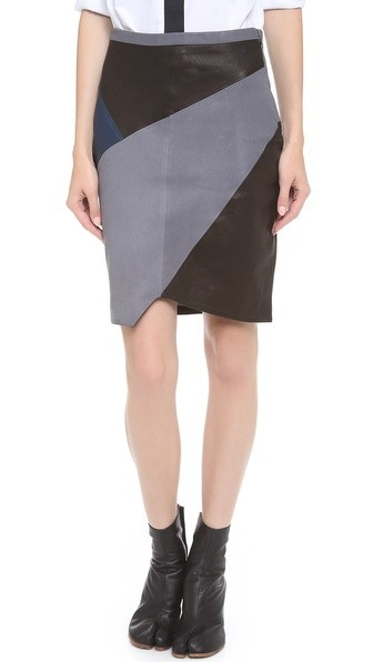 Split Leather Skirt