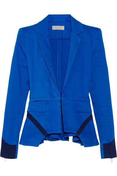 Ives stretch-cotton peplum blazer