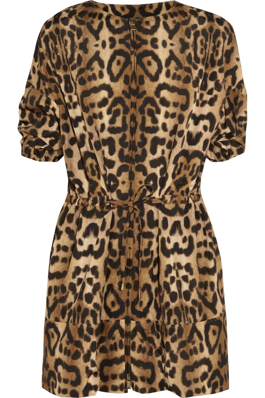Leopard-print shell jacket