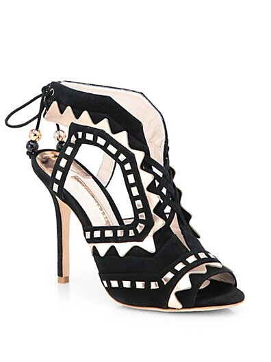 Tribal Lace-Up Suede Sandals