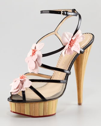 Women's Botanica Strappy Orchid Sandal - Charlotte Olympia