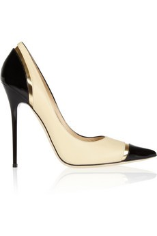 Limit tri-tone leather pumps