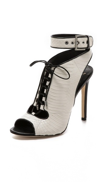 Lodosa Ankle Strap Lace up Bootie