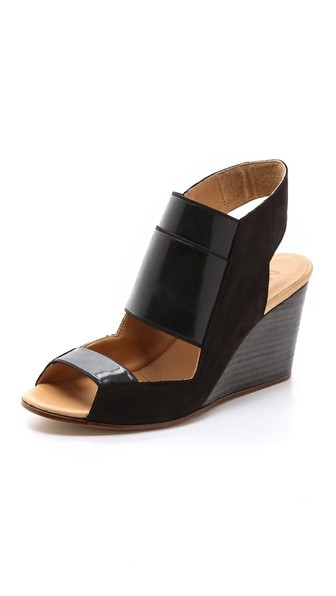 Cutout Wedge Sling Sandals
