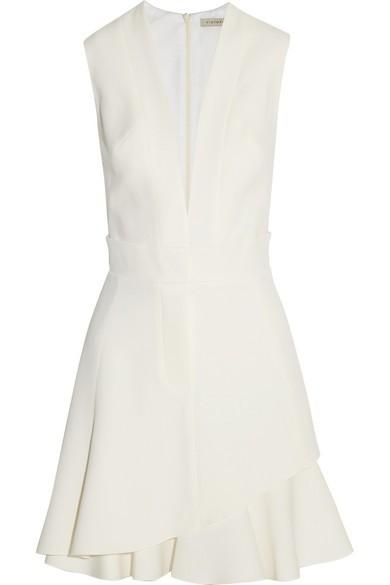 Silk and wool-blend mini dress