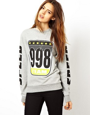 ASOS Sweatshirt with Speedway Badges