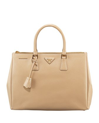 Saffiano Executive Tote Bag, Beige