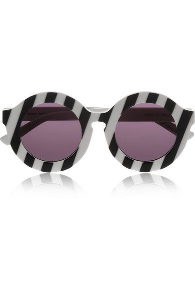 Peggy striped round-frame acetate sunglasses