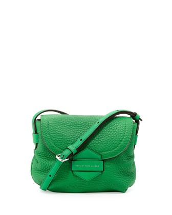 Half Pipe Pebbled Crossbody Bag, Fresh Grass - MARC by Marc Jacobs