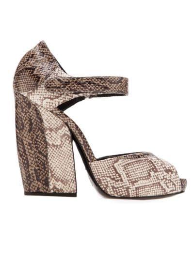 snakeskin sandal