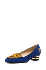 Mascot Suede Heeled Flats in Varsity Blue