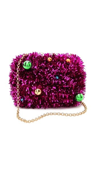 Margo Jingle Tinsel Clutch
