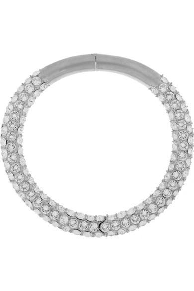 Silver-tone Swarovski crystal choker