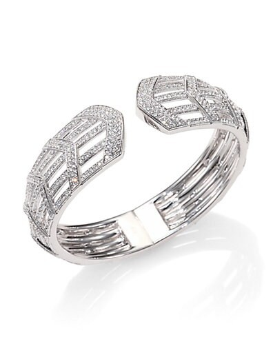 Deco Linear Row Cuff Bracelet