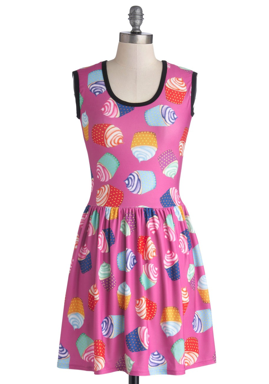 My Kinda Gallop Dress in Cupcakes