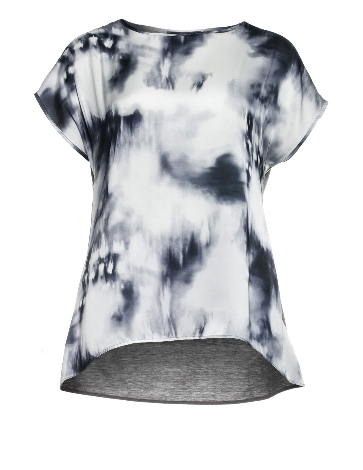 High-low tie-dye shirt