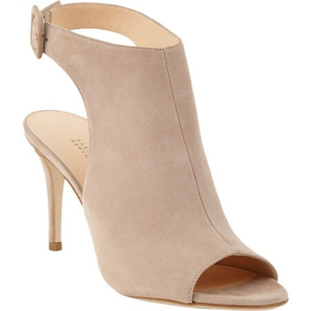 Open-Toe Ankle-Strap Bootie