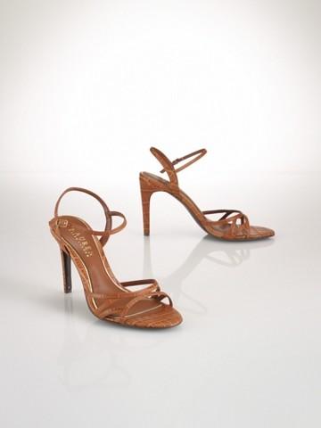 Sammy Croc-Embossed Sandal