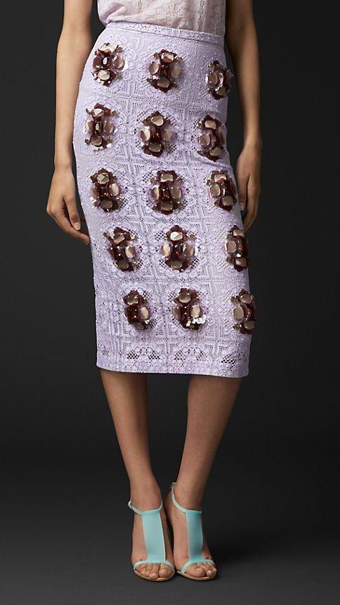 Layered Gem English Lace Skirt
