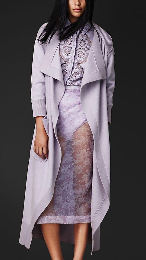 Cashmere Knit Cardigan Coat