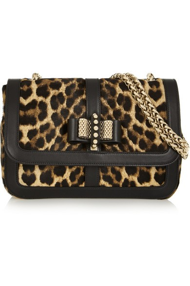 Sweet Charity leopard-print calf hair shoulder bag