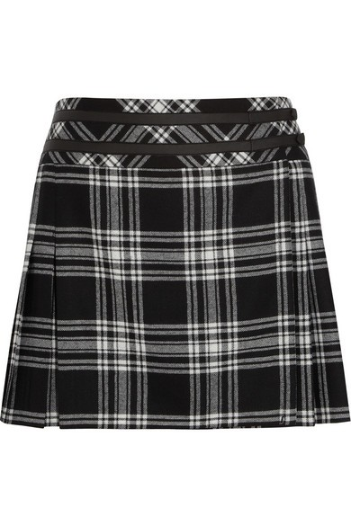 Veronica tartan wool mini skirt