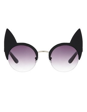 ASOS Cat Ears Half Frame Sunglasses