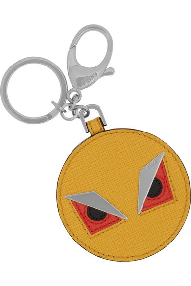 Monster Saffiano leather key fob