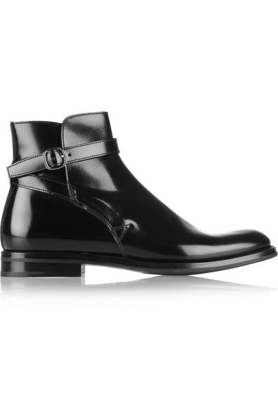 Merthyr polished leather ankle boots