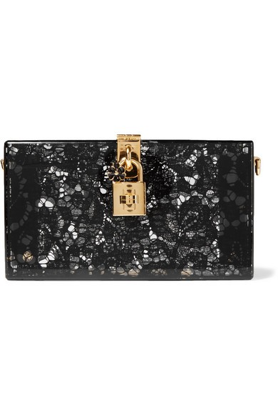 Lace and Perspex box clutch