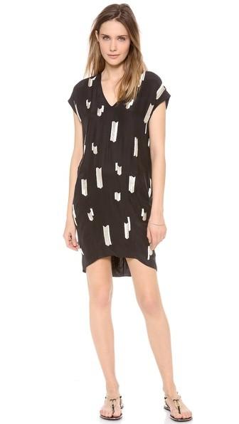 Chevron Embellished Dress