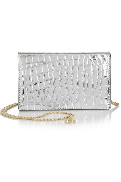Grace metallic faux leather shoulder bag