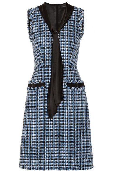 Wool-blend tweed dress