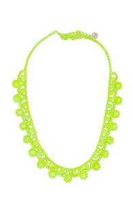 Tom Binns Neo Neon Hand Painted Rhodium Necklace in Yellow,Neon