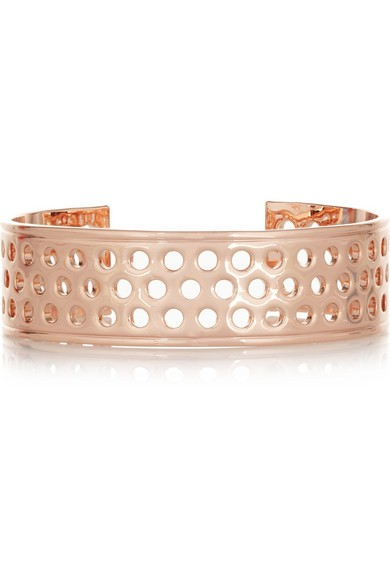 Rose gold-plated cuff