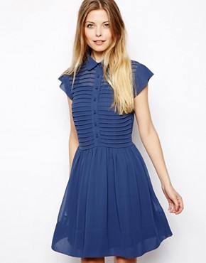 ASOS Skater Dress With Button Front