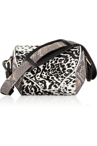 Angie leopard-print calf hair shoulder bag