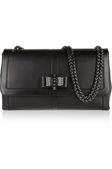 Sweet Charity large bow-embellished leather shoulder bag
