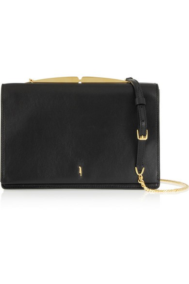 Amonet leather shoulder bag