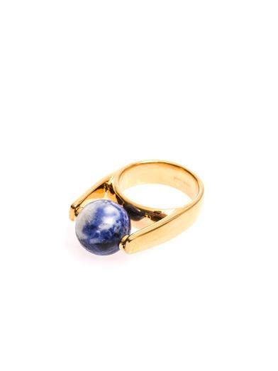 Abby lapis and gold-tone ring