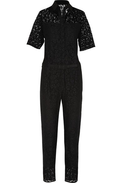 Vala cotton-blend lace jumpsuit
