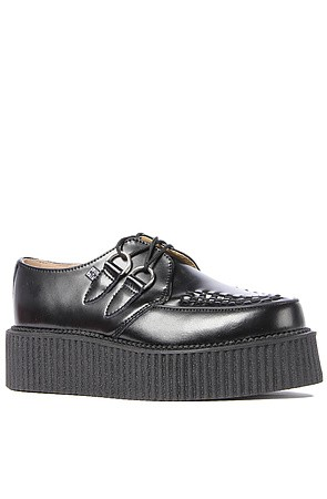 The Mondo Creeper Shoe in Black Leather