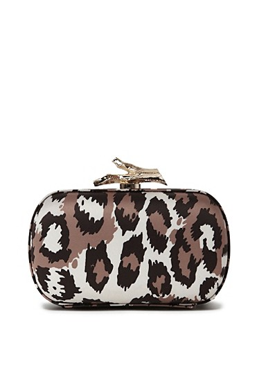 Lytton Printed Satin Clutch
