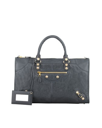 Giant 12 Golden Work Bag, Anthracite - Balenciaga