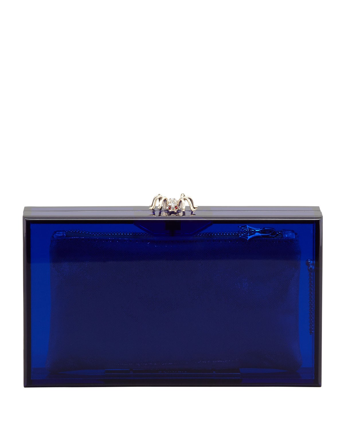 Pandora Spider Clutch Box, Blue - Charlotte Olympia
