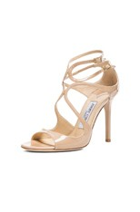 Lang Leather Heeled Sandals in Nude