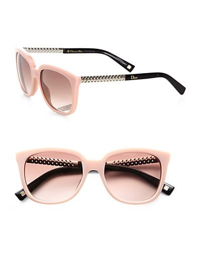 Braided Oversized Square Acetate Sunglasses