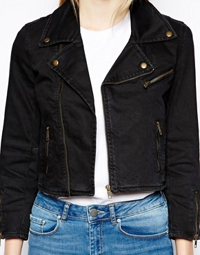 Ganni Biker Jacket in Austin Denim
