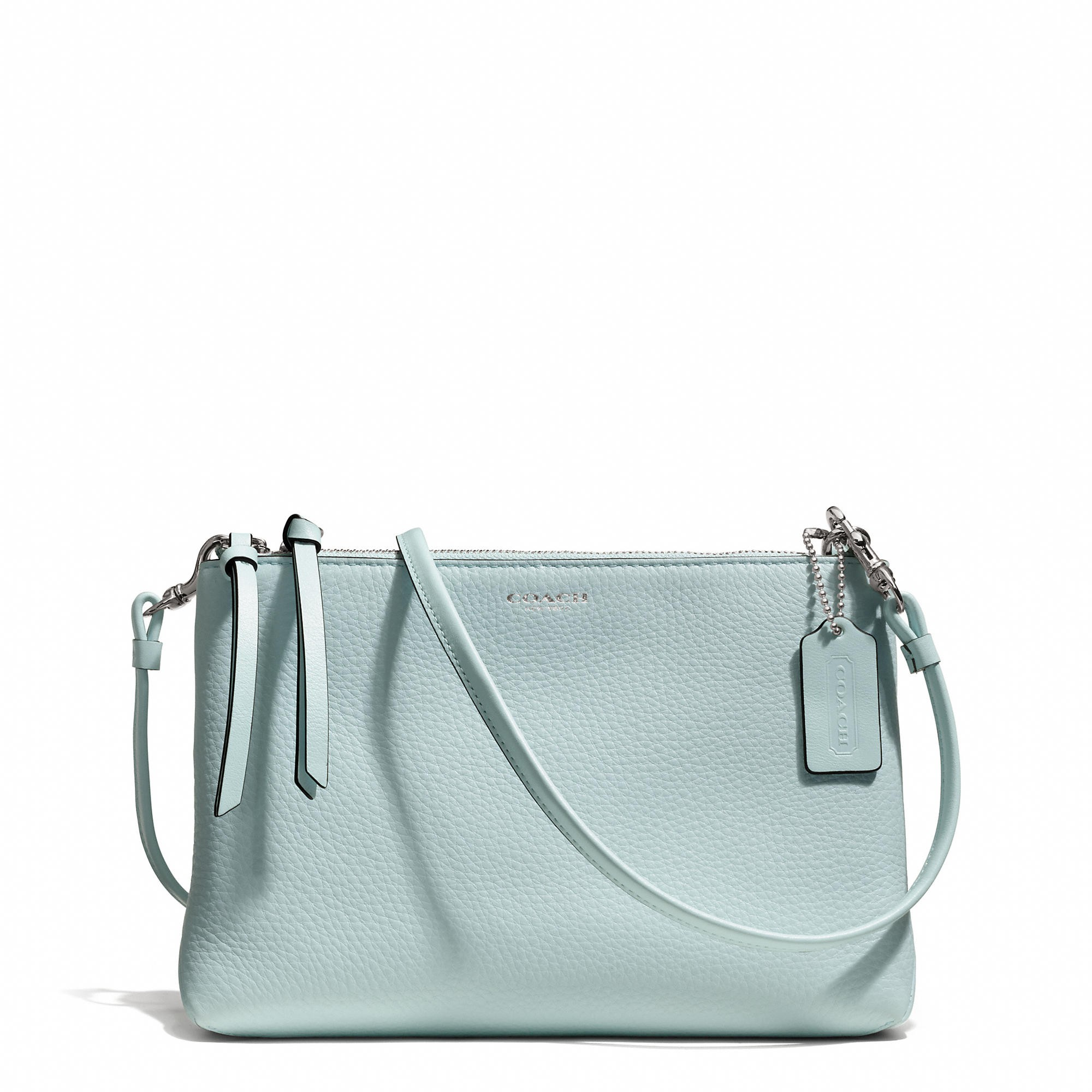 BLEECKER TRIPLE ZIP CROSSBODY IN PEBBLED LEATHER