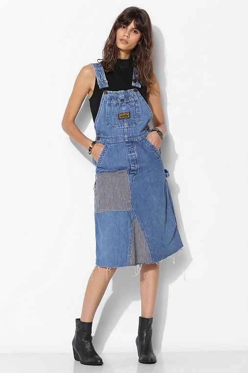 Urban Renewal Patched Overall Dress